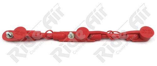 "RE702/0-14R - Overmolded Cable Assembly - Red - 14"" -3 Battery"