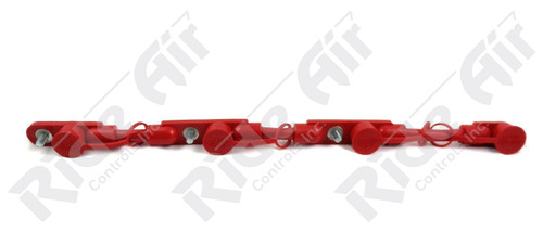 "RE702/0-21R - Overmolded Cable Assembly - Red - 21"" - 4 Battery"