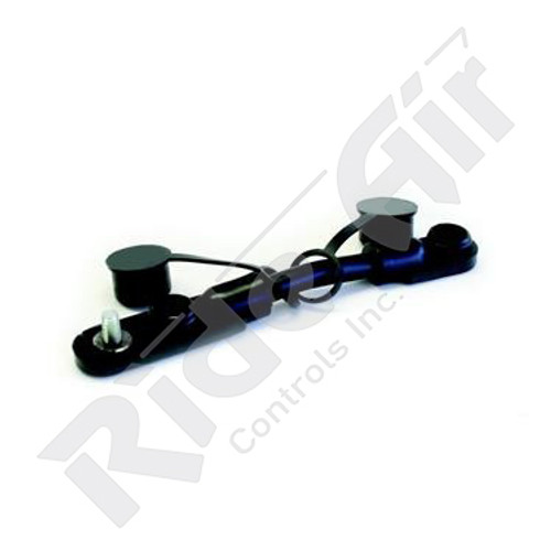 "RE702/0-7B - Overmolded Cable Assembly - Black - 7"" - 2 Battery"