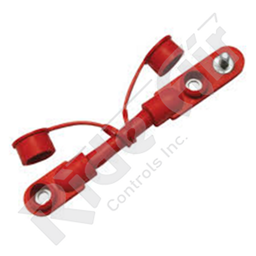 "RE702/0-7R - Overmolded Cable Assembly - Red - 7"" - 2 Battery"