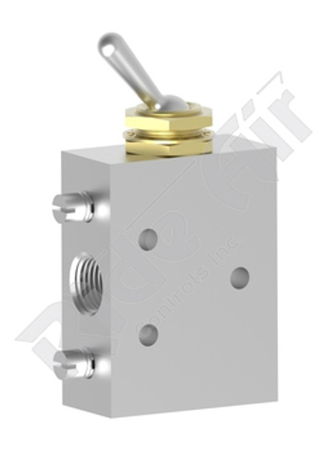 "RA41V - Toggle Valve 2 Pos/4 Way 1/8"" TAC"