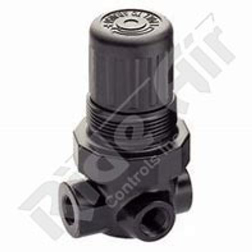 RA615 - Mini Regulator 1/4- 2-125psi panel nut