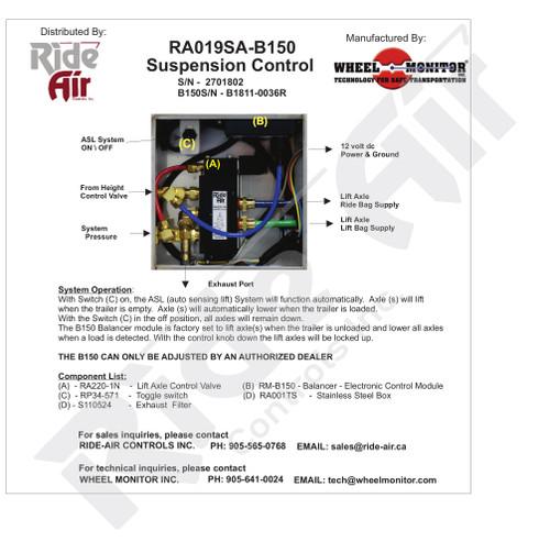 RA019SA-B150 - Auto Sensing Lift Control Box (RA019SA-B150)
