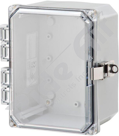 RA001P-080804CL - Polycarbonate Box 8 x 8 x 4 w/o plate Clear Lid