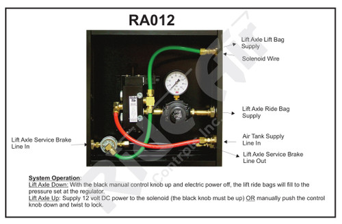 RA012 - Lift Axle Control Box (RA012)