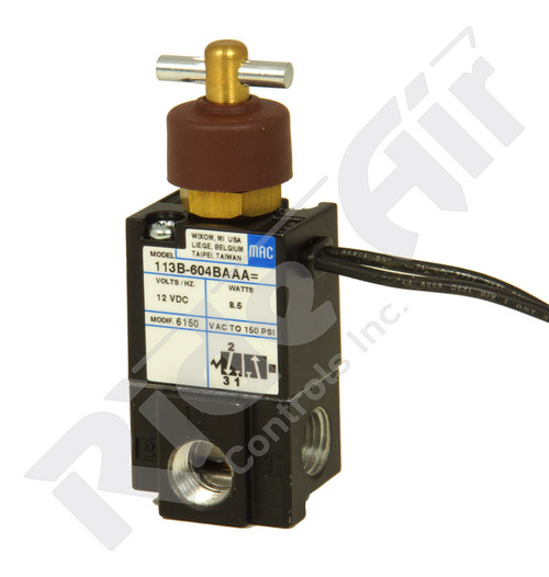 RA760MAC - Solenoid Valve 3 Port w/ Tee Handle (AL096) (RA760MAC)