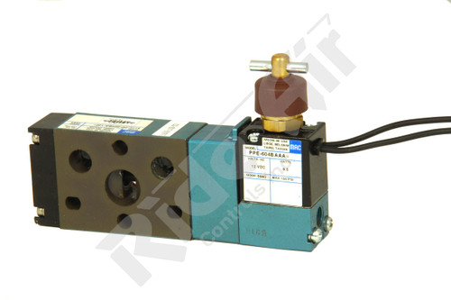 "811C-PM-604BA-122=5170 - 5/2 1/4"" NPT SGL SOL Valve 12VDC (811C-PM-604BA-122=5170)"