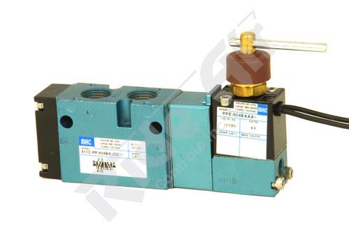 "811C-PP-604BA-252=LA11 - 5/2 1/4"" NPT Solenoid Valve Dual Pressure (811C-PP-604BA-252=LA11)"