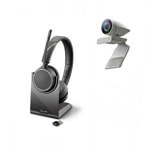 Poly Studio P5 webcam with Voyager 4220 UC wireless usb headset with BT600 dongle Kit (2200-87140-025)