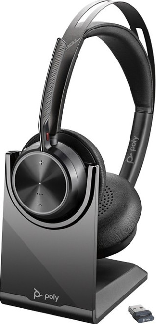 Poly Voyager Focus 2 with charging stand and BT700 USB - premium wireless headset