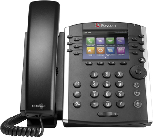 Poly VVX 411 VoIP Business and Media Phone (2200-48450-019) Front