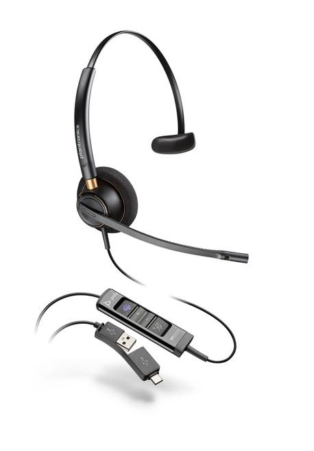 Poly EncorePro EP515-M USB-A/-C Single Ear Digital Headset-MS Teams (218272-01)