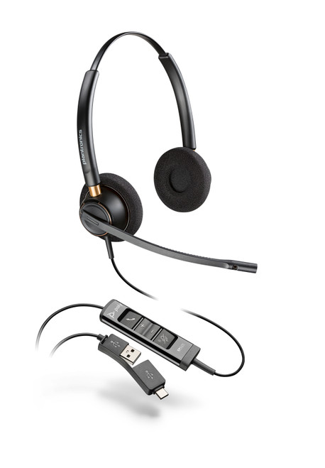 Poly EncorePro EP525 USB-A/-C Dual Ear Digital Headset (218274-01)