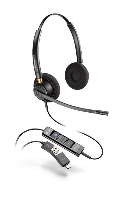 Poly EncorePro EP525-M USB-A/-C Dual Ear Digital Headset-MS Teams (218275-01)