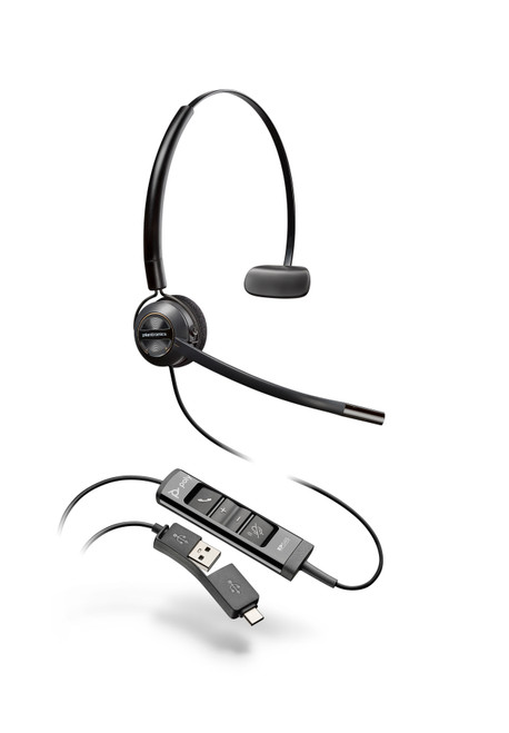 Poly EncorePro EP545 USB-A/-C Convertible Digital Headset (218277-01)