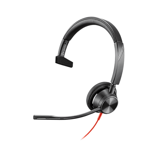 Poly Blackwire BW3315-M USB-C Single Ear w/3.5mm-MS Teams (213937-01) with dedicated Teams button