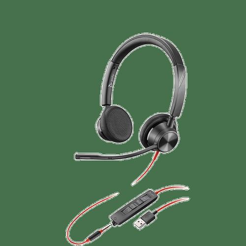 Poly Blackwire BW3325-M USB-A Dual Ear w/3.5mm-MS Teams (214016-101)