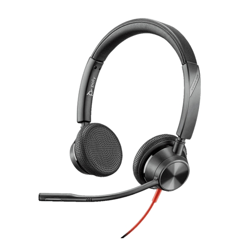 Poly Blackwire BW3325-M USB-C Dual Ear w/3.5mm-MS Teams (214017-101) with dedicated Teams Button