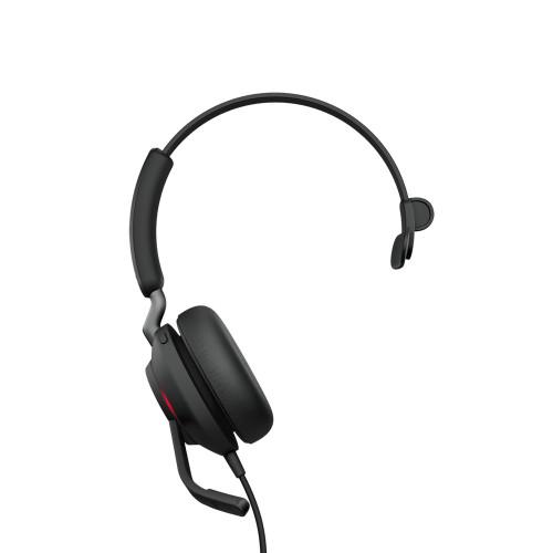 Jabra Evolve2 40 Mono MS USB-C MS Teams (24089-899-899) single ear corded headset