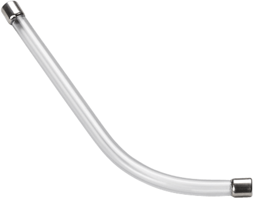 Replacement Voice Tube (Long) Clear (17593-01) Side View