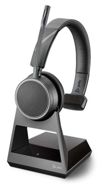 Voyager V4210 D Office Wireless Bluetooth Headset with 1-Way Base for use with Desk phone and Mobile phone through Bluetooth