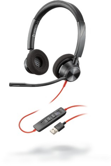 Blackwire BW3320 USB A corded dual ear headset