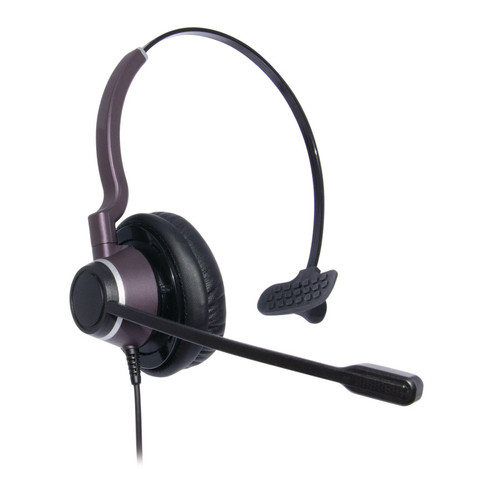 JPL Connect 1 Single Ear Headset, NC, QD (575-273-001) quick disconnect. Thick leatherette ear cushions.
