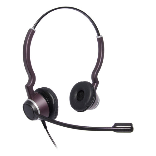 JPL-HAC-2 dual ear corded headset for hearing impaired. quick disconnect