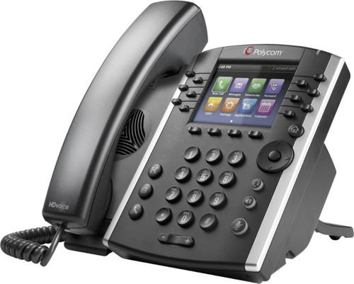 Polycom VVX401 Expandable VoIP Business Media Desk Phone (2200-48400-025)