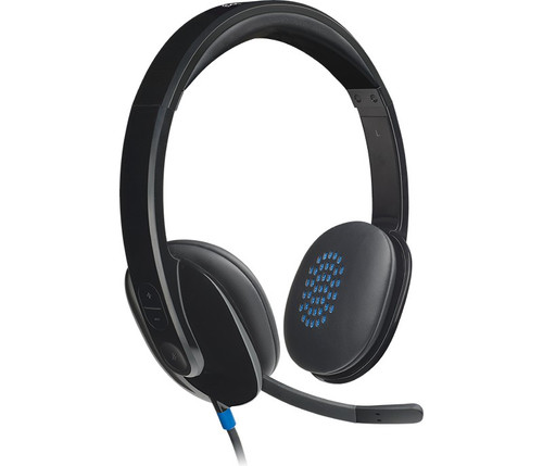 Logitech H540 USB Stereo Headset (981-000510) Side view