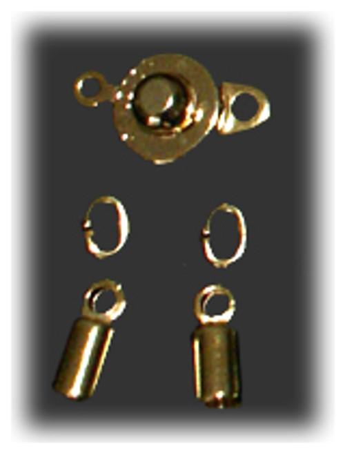 Gold Clasp Set - 3mm