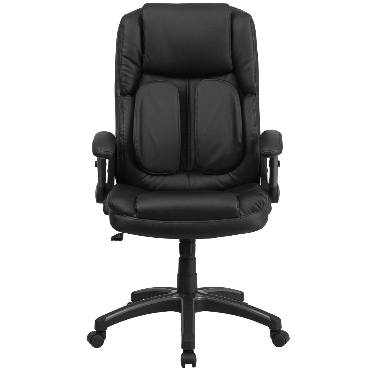 Flash Furniture | Extreme Comfort High Back Black Leather Executive Swivel  Ergonomic Office Chair with Flip-Up Arms