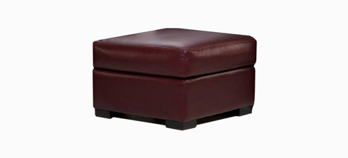 Jaymar Bellini Ottoman available in leather, fabric, or microfiber.