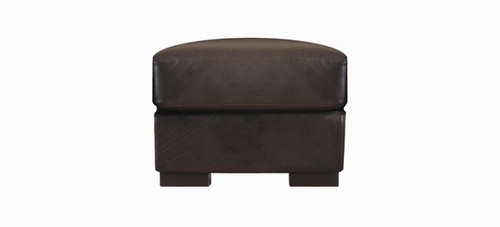 Jaymar Cannes Ottoman available in leather, fabric, or microfiber.