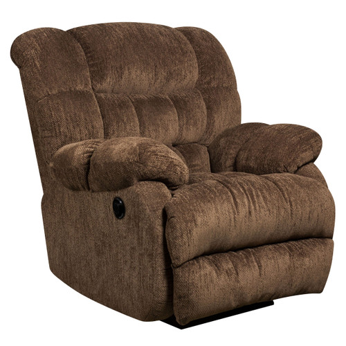Flash Furniture | Contemporary Columbia Mushroom Microfiber Power Recliner with Push Button