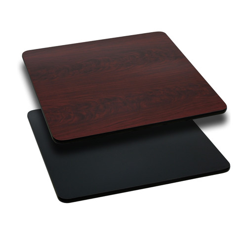 Flash Furniture | 36'' Square Table Top with Black or Mahogany Reversible Laminate Top
