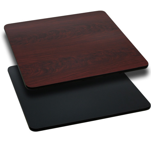 Flash Furniture | 42'' Square Table Top with Black or Mahogany Reversible Laminate Top
