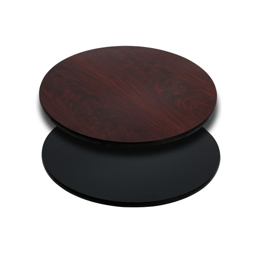 Flash Furniture | 24'' Round Table Top with Black or Mahogany Reversible Laminate Top