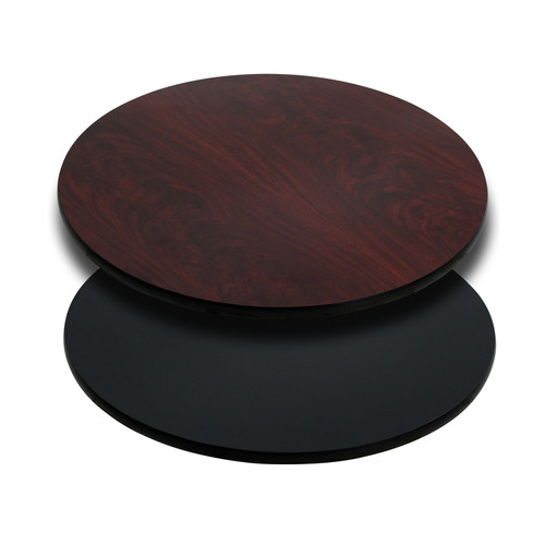 Flash Furniture | 30'' Round Table Top with Black or Mahogany Reversible Laminate Top