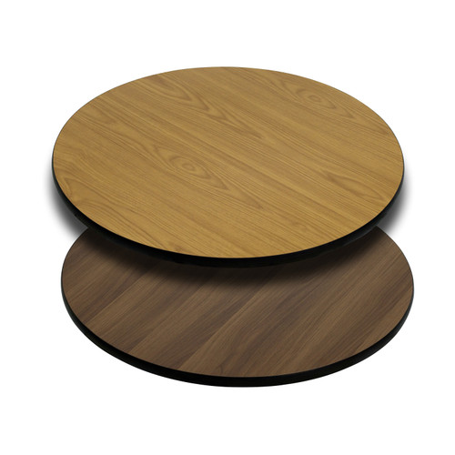 Flash Furniture | 30'' Round Table Top with Natural or Walnut Reversible Laminate Top