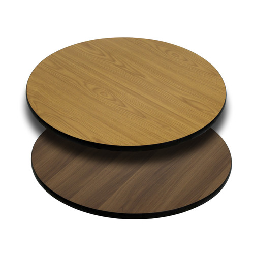 Flash Furniture | 36'' Round Table Top with Natural or Walnut Reversible Laminate Top