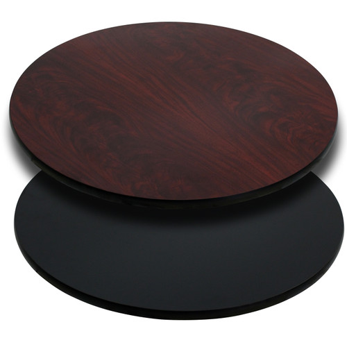 Flash Furniture | 42'' Round Table Top with Black or Mahogany Reversible Laminate Top