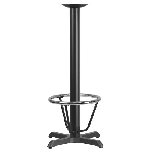 Flash Furniture | 22'' x 22'' Restaurant Table X-Base with 3'' Dia. Bar Height Column and Foot Ring