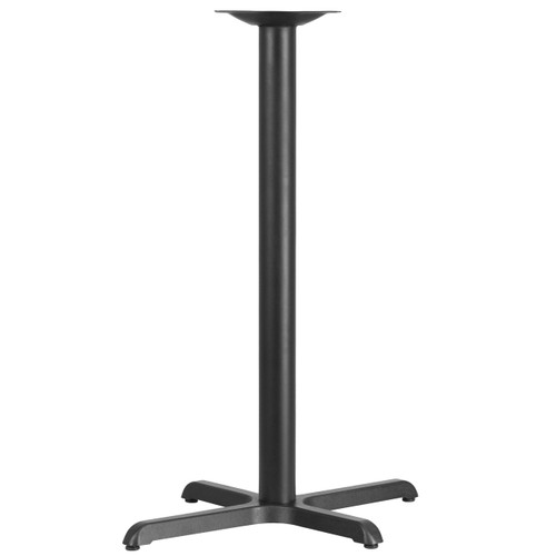 Flash Furniture | 22'' x 30'' Restaurant Table X-Base with 3'' Dia. Bar Height Column