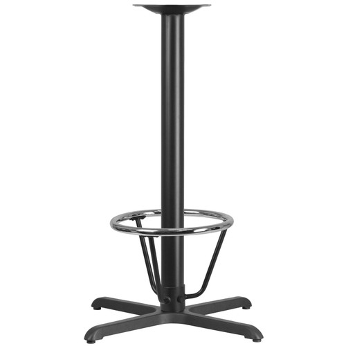 Flash Furniture | 30'' x 30'' Restaurant Table X-Base with 3'' Dia. Bar Height Column and Foot Ring