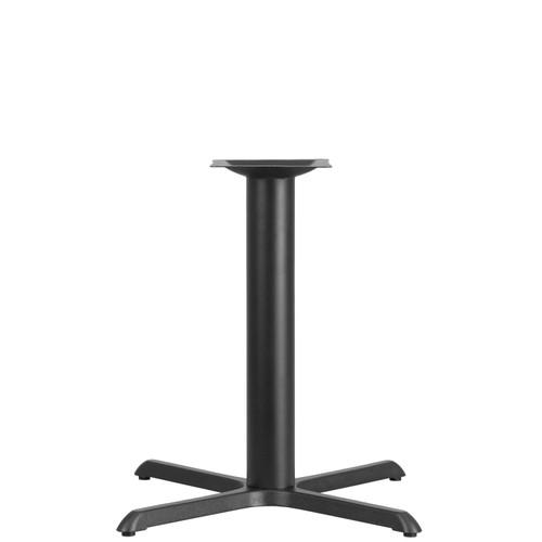 Flash Furniture | 33'' x 33'' Restaurant Table X-Base with 4'' Dia. Table Height Column
