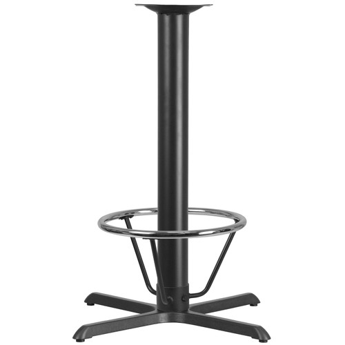 Flash Furniture | 33'' x 33'' Restaurant Table X-Base with 4'' Dia. Bar Height Column and Foot Ring