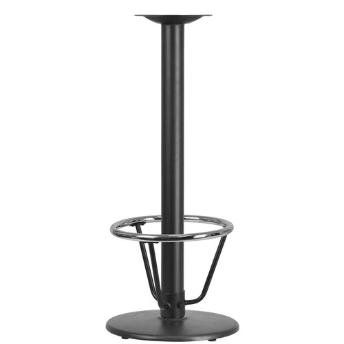 Flash Furniture | 18'' Round Restaurant Table Base with 3'' Dia. Bar Height Column and Foot Ring