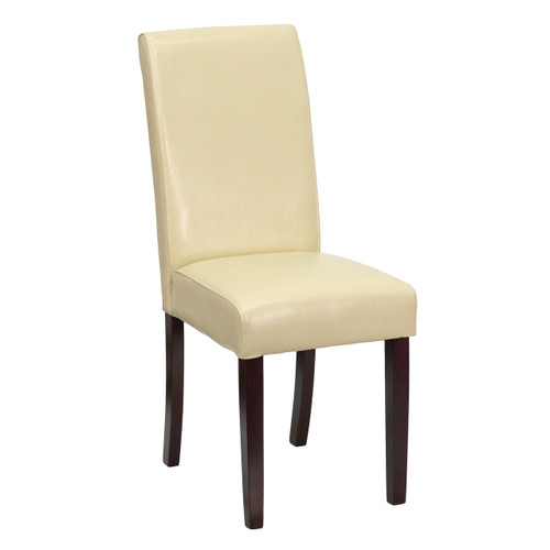 Flash Furniture   Ivory Leather Parsons Chair