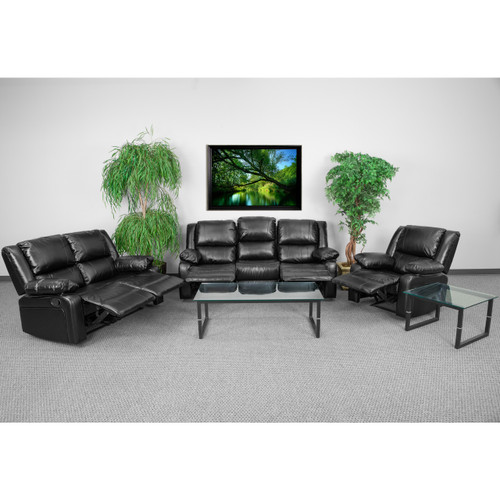 Flash Furniture | Harmony Series Black Leather Reclining Sofa Set